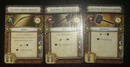 Fehldruck auf drei Marktkarten
