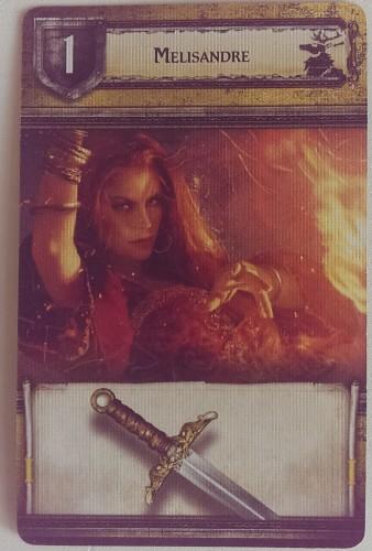 Hauskarte Melisandre kämpft für das Haus Baratheon