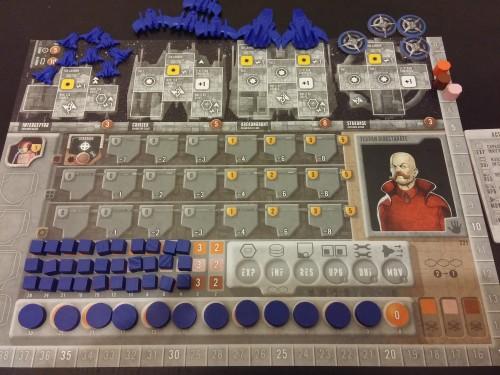Spielmaterial eines Spielers