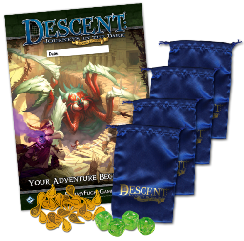 Inhalt des Descent Game Night Kit 2