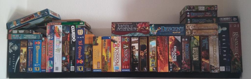 Meine Sammlung an Brettspielen - 42 Stück.