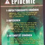 Eine Epidemiekarte aus Pandemie