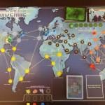 Aufgebaute Pandemie Spielbrett
