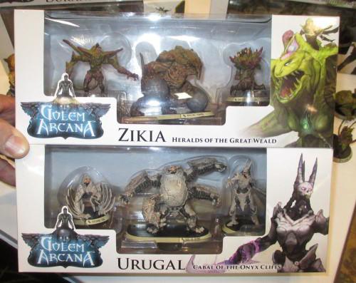 Die neuen Zikia und Urugal Pakete für Golem Arcana. Foto: http://icv2.com/
