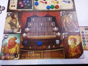 Das Spielerteableau in Shakespeare