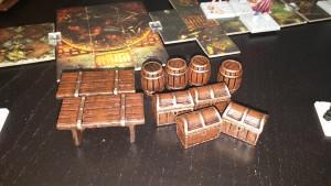 Bemalte Möbel aus Dungeon Saga