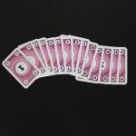 Die Nummernkarten des pinken Spielers