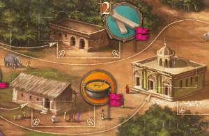 Ausschnitt aus dem Spielplan von Agra