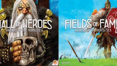 Räuber der Nordsee: Halle der Helden und Felder des Ruhms. Foto: Garphill Games