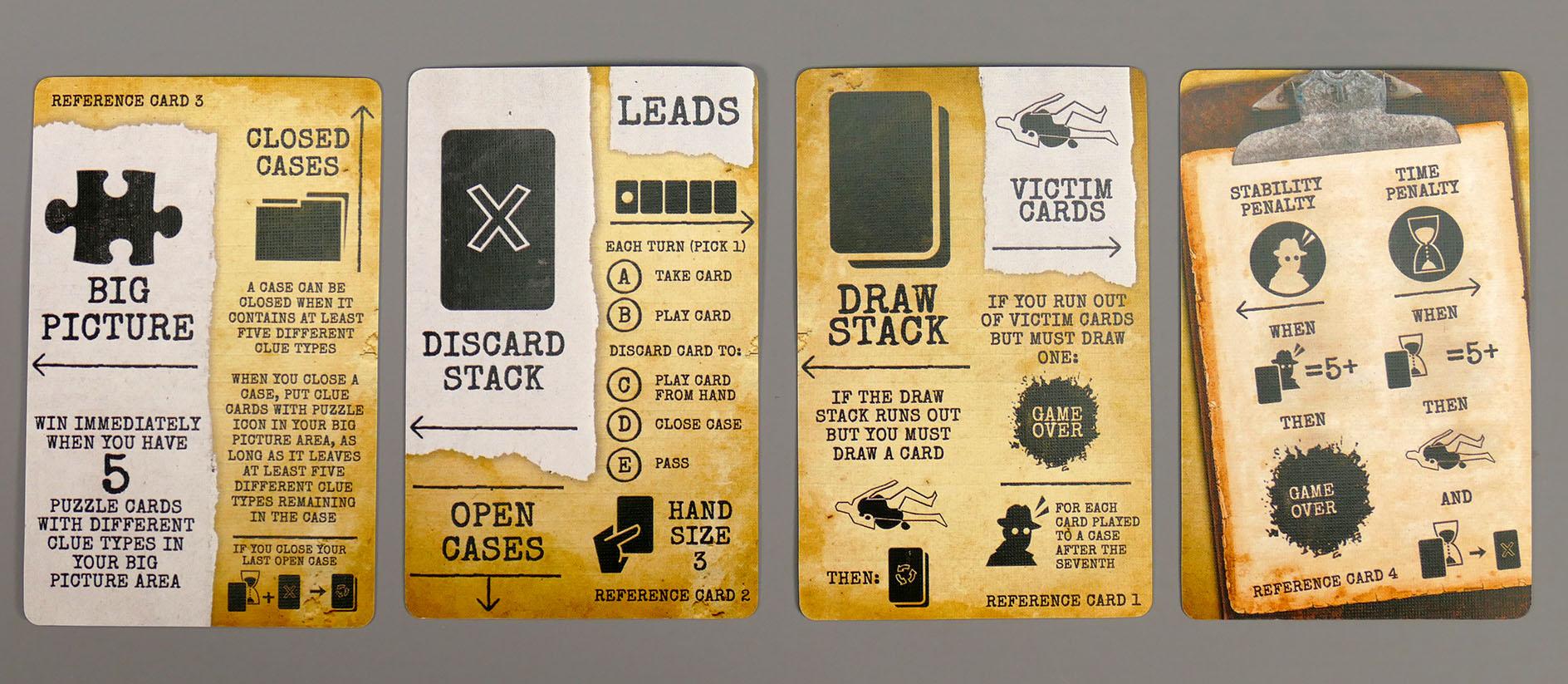Arkham Noir Referenzkarten