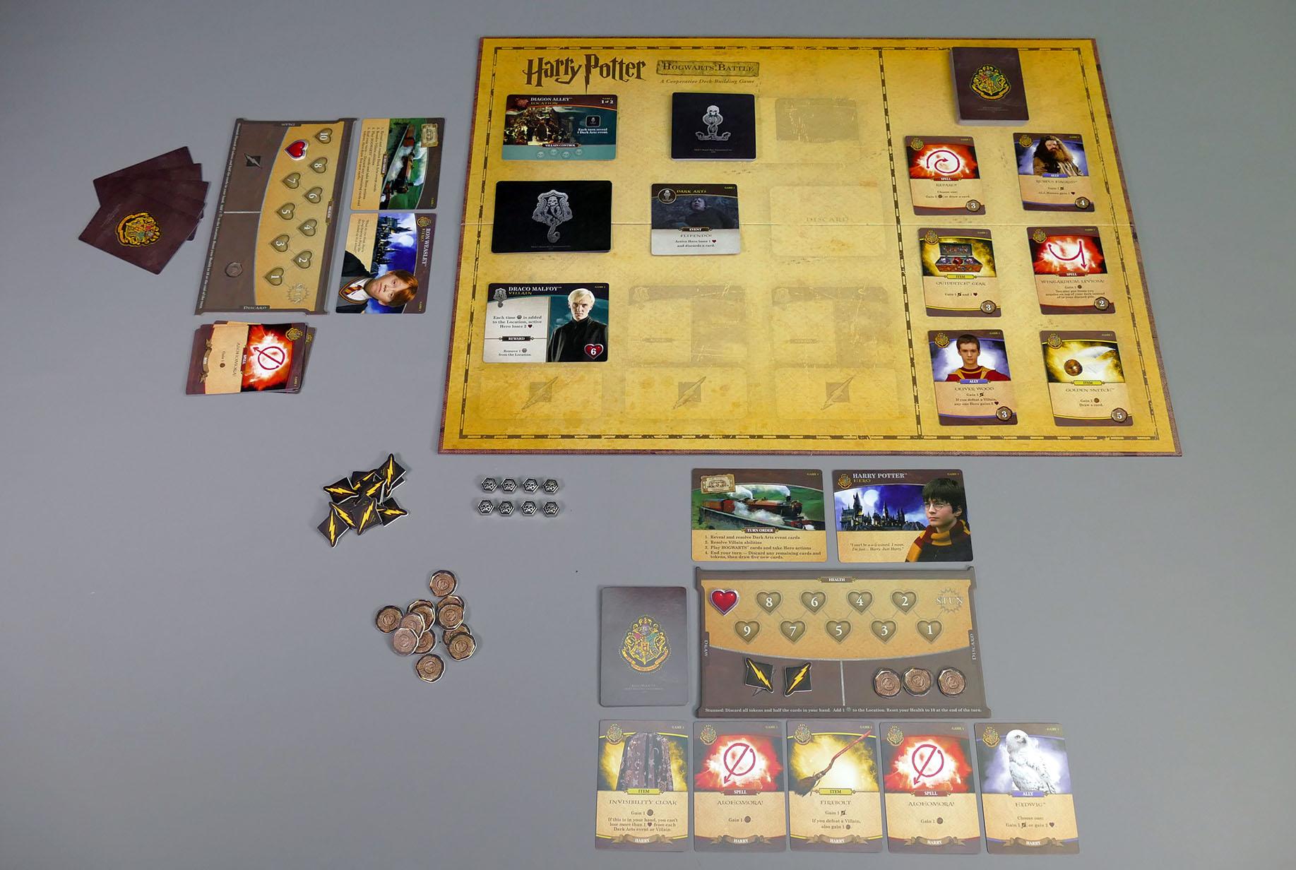 Hogwarts Battle Spielaufbau