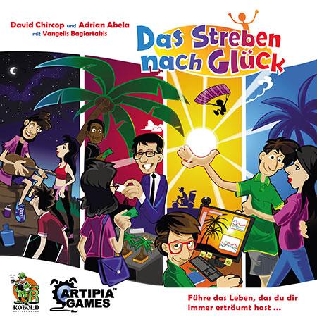 Das Streben nach Glück Cover - Kobold Spieleverlag