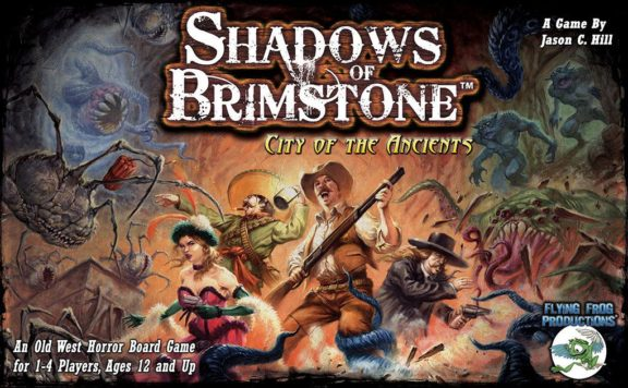 Shadows of Brimstone: City of the Ancients Cover - Flying Frog Productions