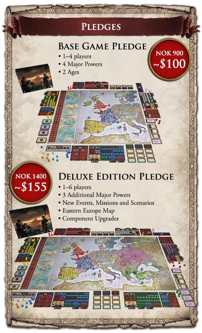 Europa Universalis Brettspiel Versionen